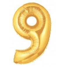 Ballon aluminium numéro 8 or
