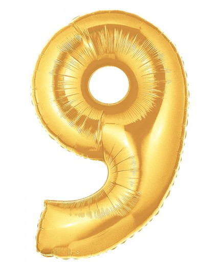 Folienballon Zahl 8 gold