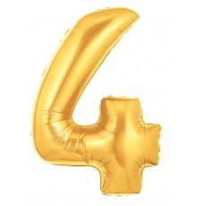 Palloncino foil numero 4 oro