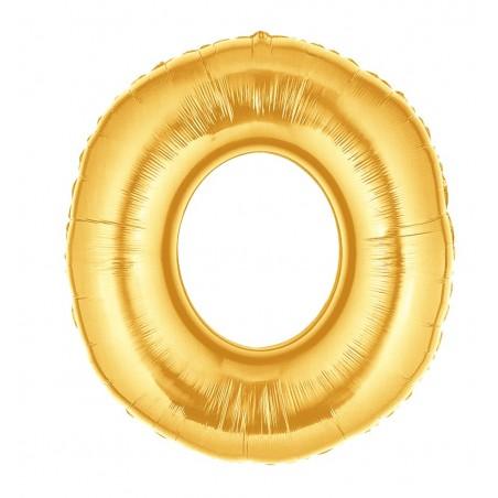 Folienballon Zahl 0 gold