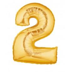 Palloncino foil numero 0 oro
