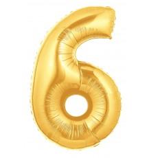 Palloncino foil numero 6 oro