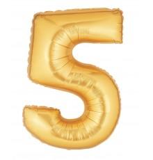 Palloncino foil numero 5 oro