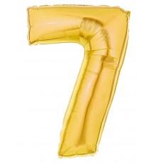 Ballon aluminium numéro 7 or