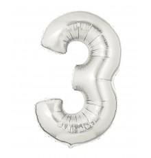 Ballon aluminium numéro 3 or