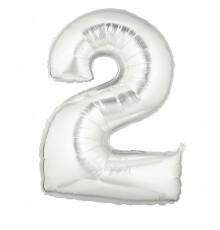 Ballon aluminium numéro 2 or