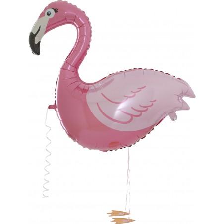 Laufballon Flamingo