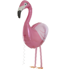 Laufballon Flamingo