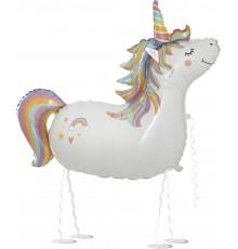 Palloncino da corsa unicorno
