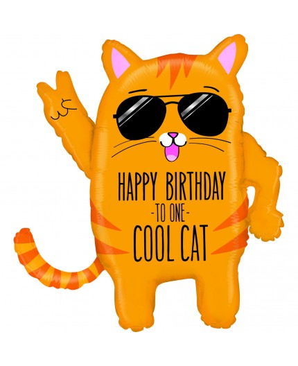 Folienballon Cool Cat Birthday