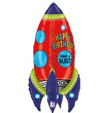 Ballon aluminium, Fusée joyeux anniversaire