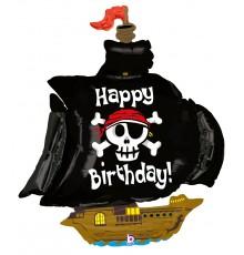 Folienballon Birthday Piratenschiff