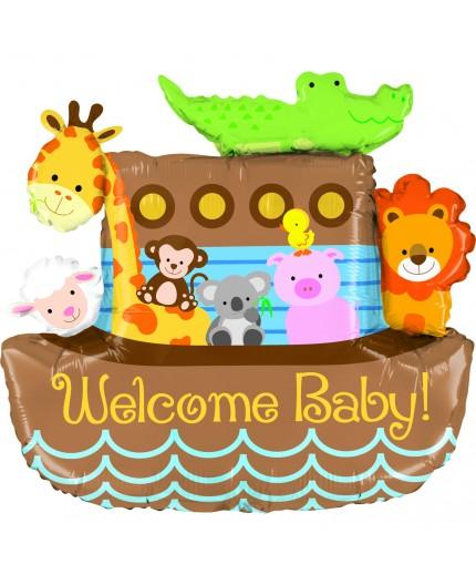 Folienballon Arche Noah Welcome Baby