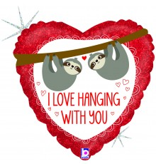 "Folienballon ""Love hanging with you"""