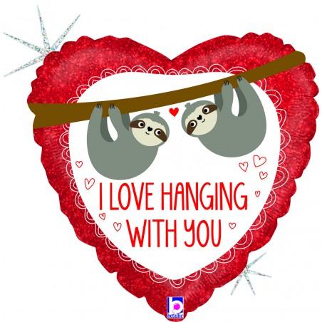 "Folienballon ""Love hanging with you"""