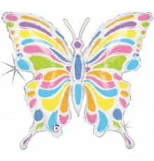 Folienballon Pastell Schmetterling