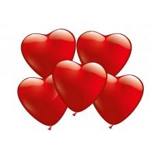 Ensemble de ballon coeur confettis