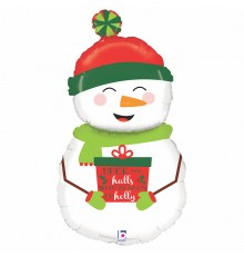 Folienballon Holiday Snowmann