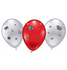 "4 Ballons ""Leopard Heart Jewels"""