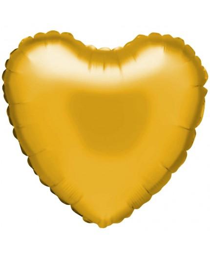 """Ballon aluminium """"coeur"""" en or"""