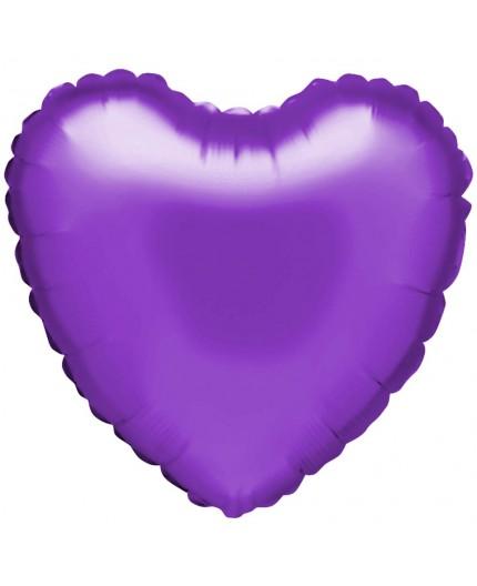 """Palloncino foil """"cuore"""" viola"""