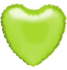 "Palloncino foil ""cuore"" lime"