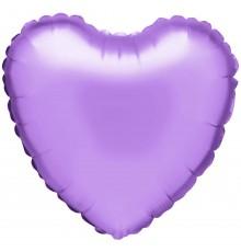 """Ballon aluminium """"coeur"""" en lumière violette"""