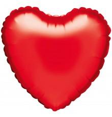 """Ballon aluminium """"coeur"""" en lumière rouge"""