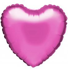 """Ballon aluminium """"coeur"""" en rose foncé"""