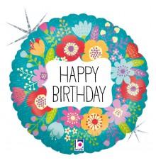 "Folienballon ""Birthday Wildblume"""
