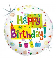 "Ballon en aluminium ""Joyeux anniversaire"""