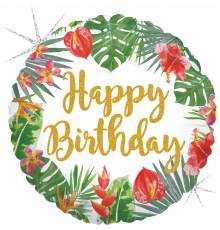"Folienballon ""Tropical Birthday"""