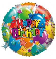 """Palloncino di alluminio """"Buon compleanno festa"""""""