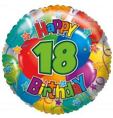"Folienballon ""18"" Joyeux anniversaire"