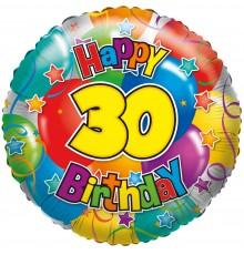 "Folienballon ""30"" Joyeux anniversaire"