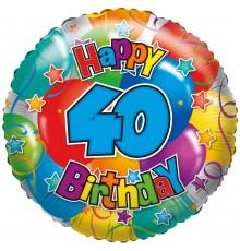 "Folienballon ""40"" Joyeux anniversaire"