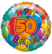 "Folienballon ""50"" Happy Birthday"