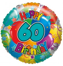 "Folienballon ""60"" Joyeux anniversaire"