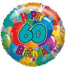 "Folienballon ""60"" Happy Birthday"