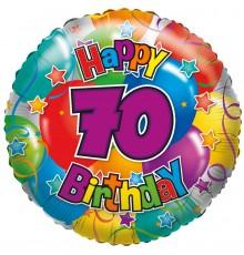 "Folienballon ""70"" Happy Birthday"