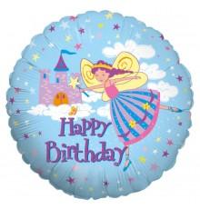 """Palloncino foil """"Buon Compleanno Fata Principessa"""""""
