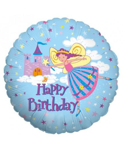 """Folienballon """"Happy Birthday Fairy Princess"""""""